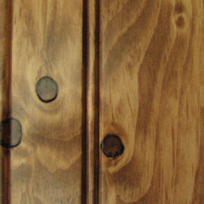 Knotty Pine w/Wheat Stain